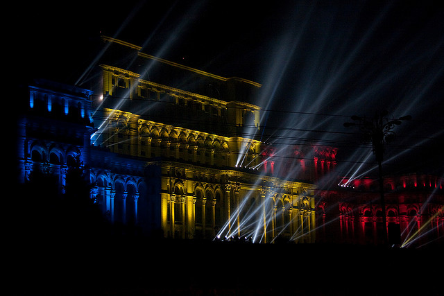 Romanian Parliament Palace New Years Eve