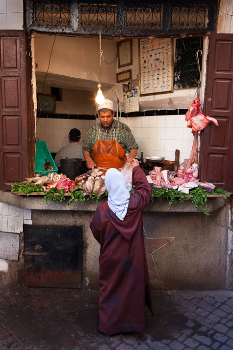 Marrakech street butcher