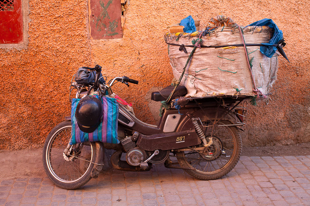motorbike in Marrakech