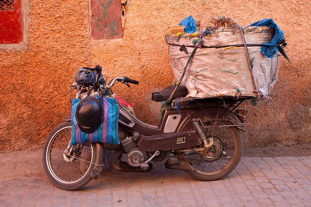 motorbike in Marrakech