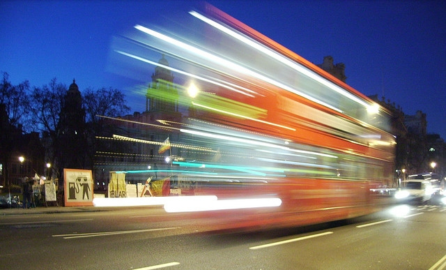 Bus motion blur