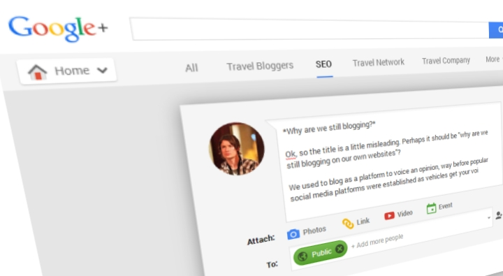 Blogging on social