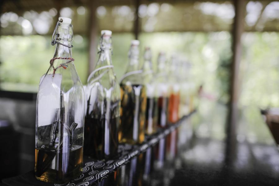 Oils in Alila Ubud's restaurant