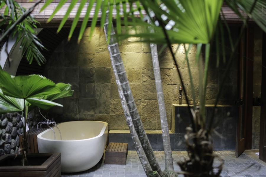 Stunning outdoor bathroom