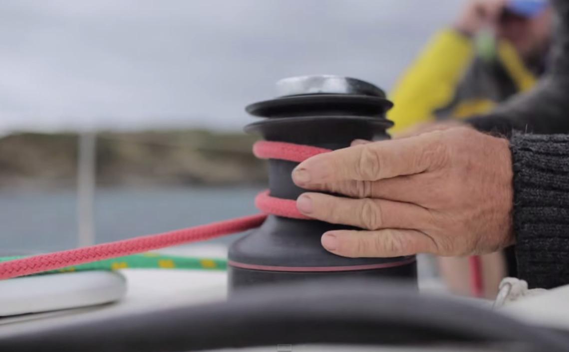 Winching, sailing Menorca