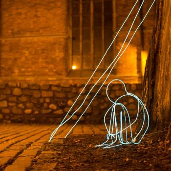 Festival of light object - boy