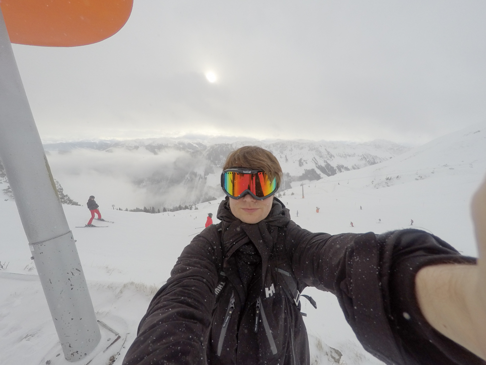 On the slopes in Austria
