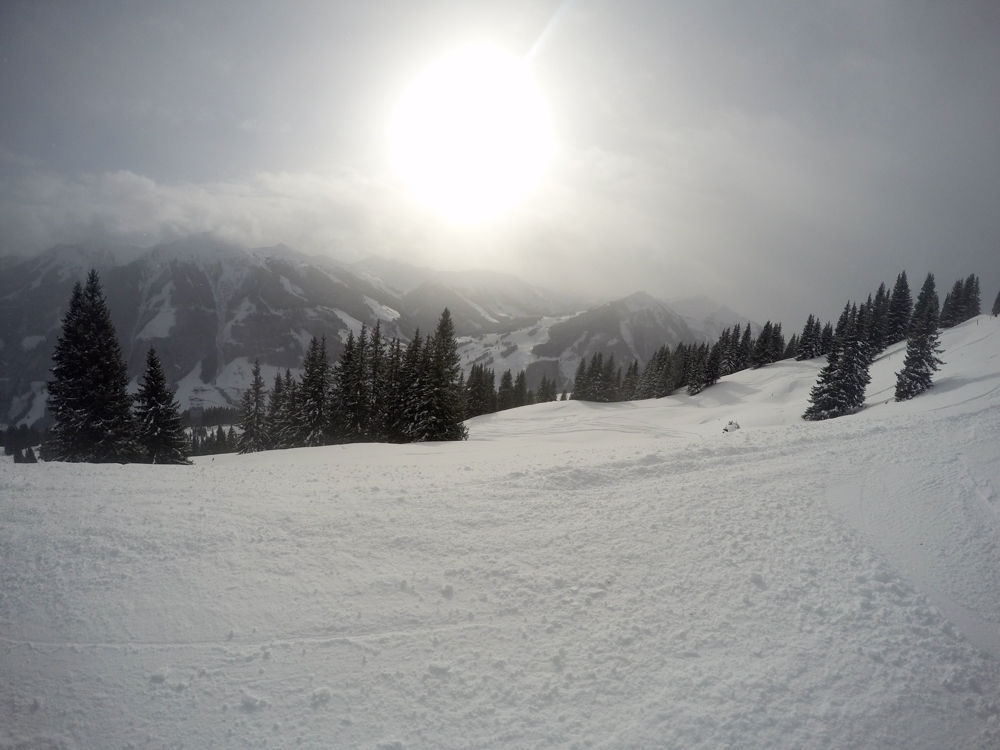 View from the piste in Austria