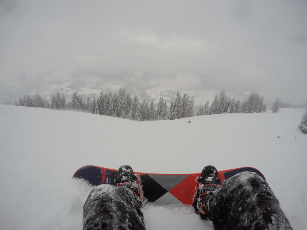 Snowboarding slopes in Austria