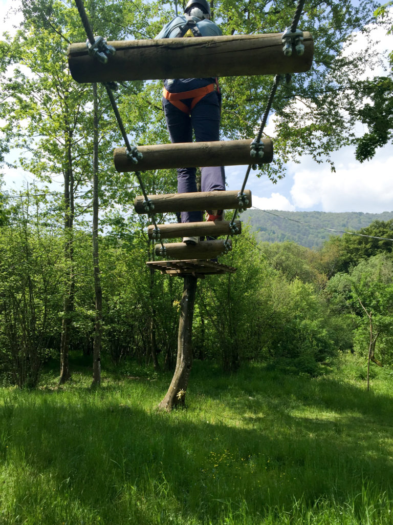 Rope ladder zip lining Como