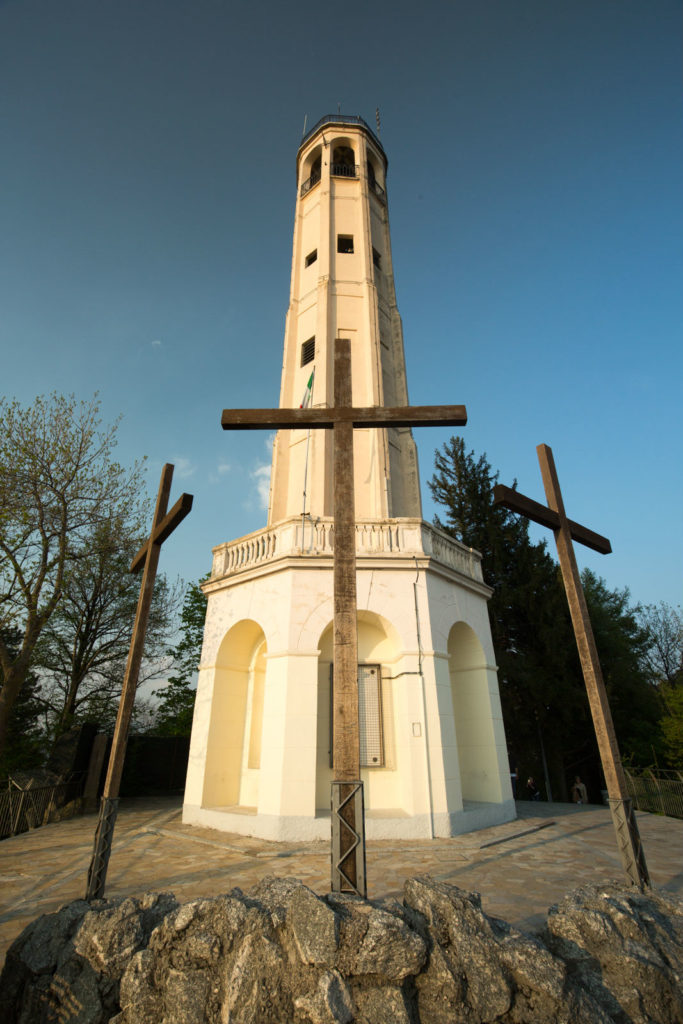 Faro Voltiano Lighthouse with crosses