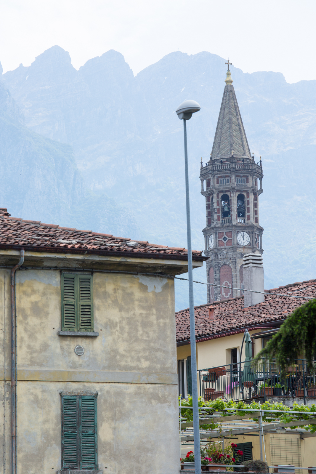 Lecco's Bell Tower and Monte Resegone