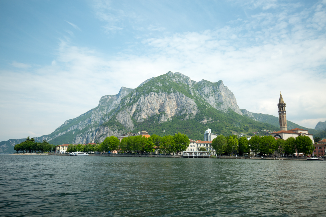 View Lecco from Lake Como