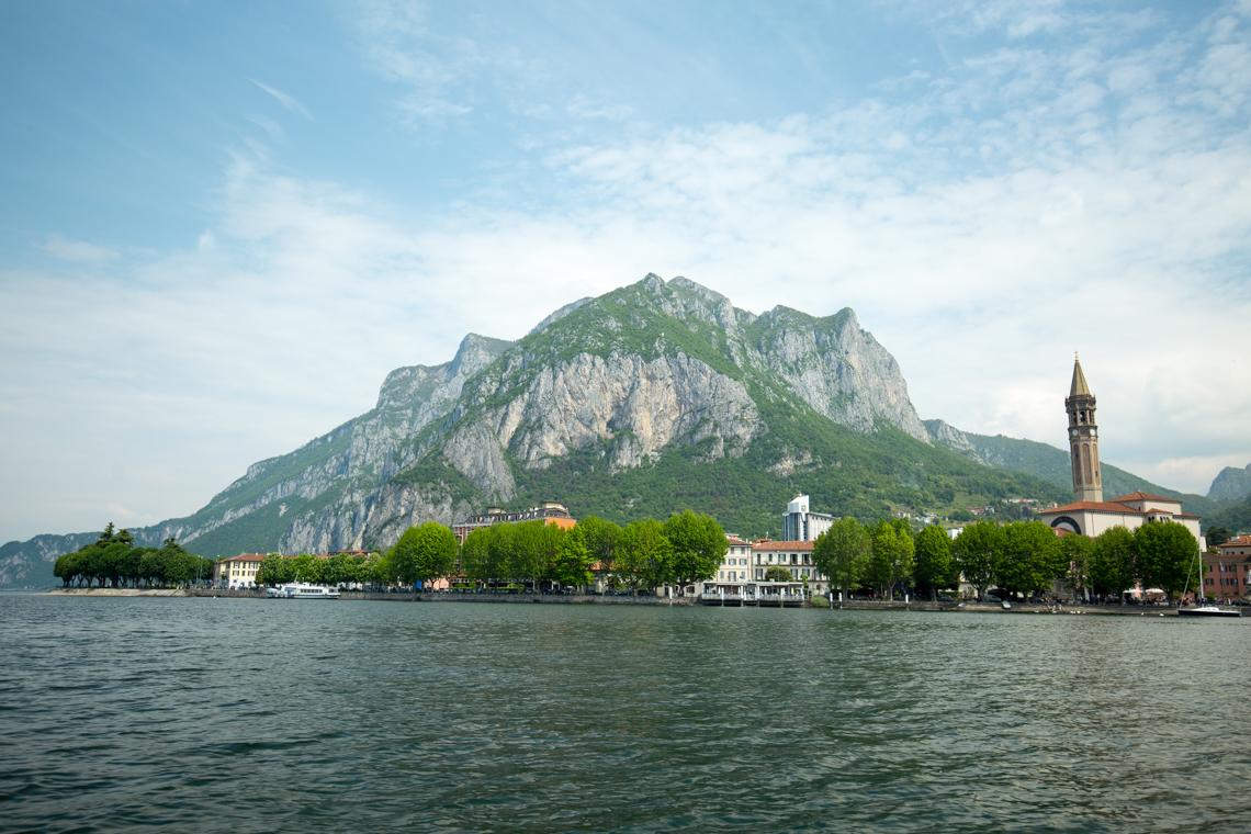 View Lecco from Lake Como