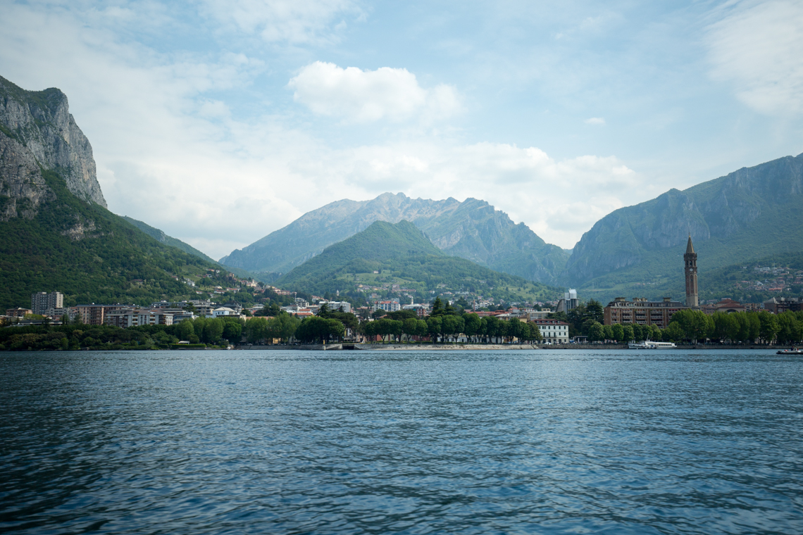 Looking back at Lecco from Lake Como