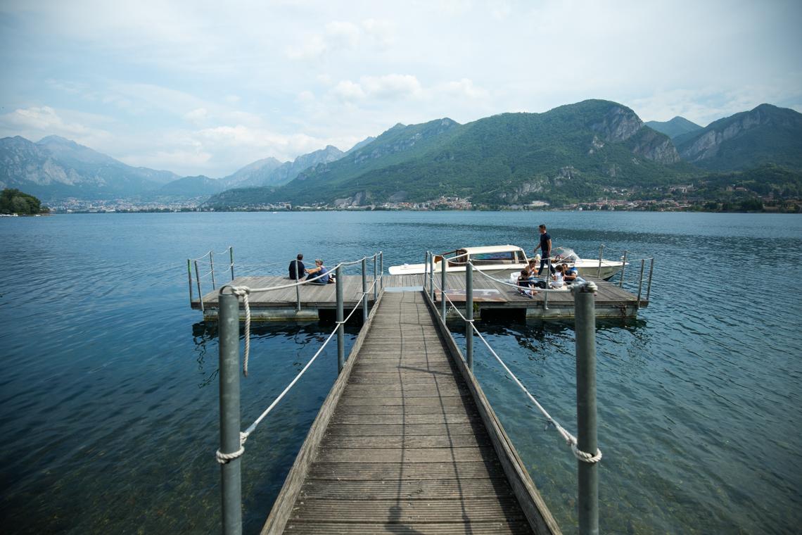 Pier on Lake Como