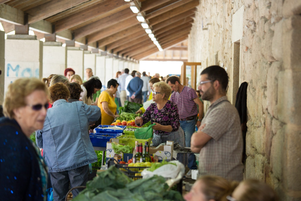 Market in Pontedeume