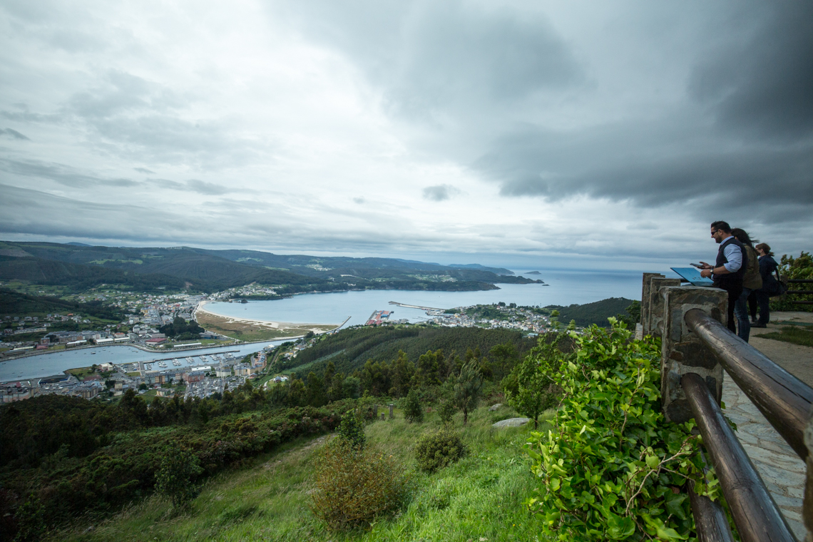 View over Viveiro out to sea