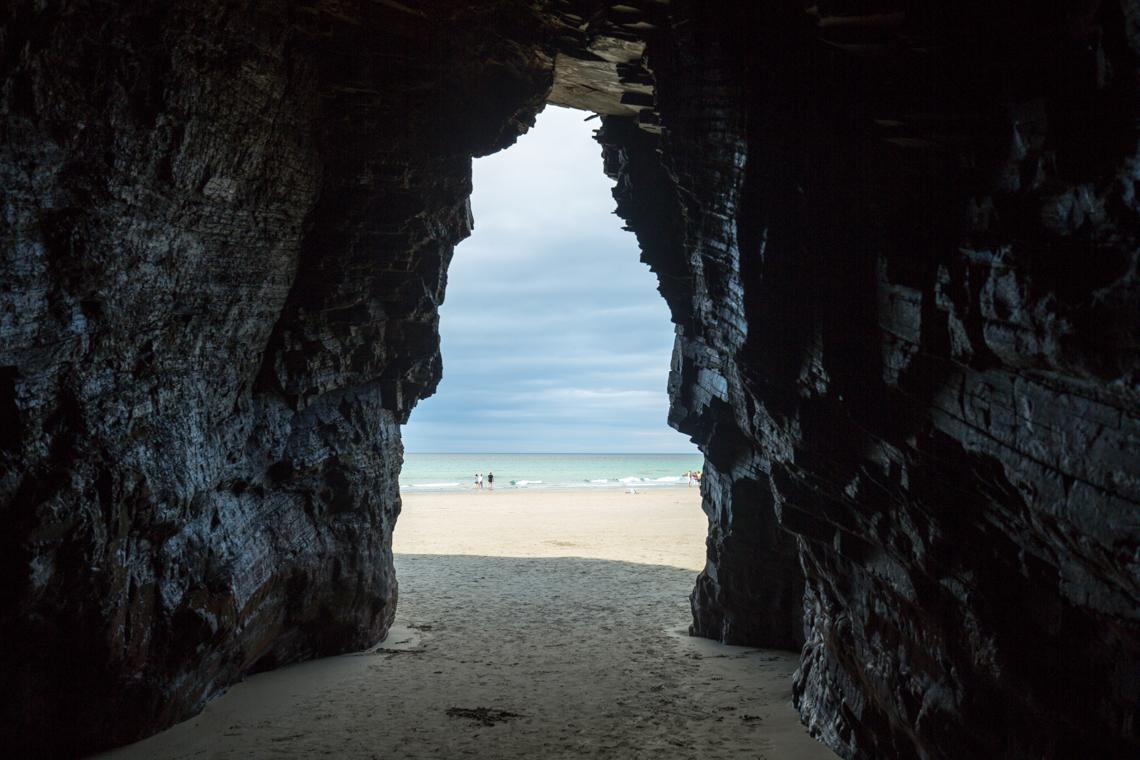 Cave on Praia das Catedrais