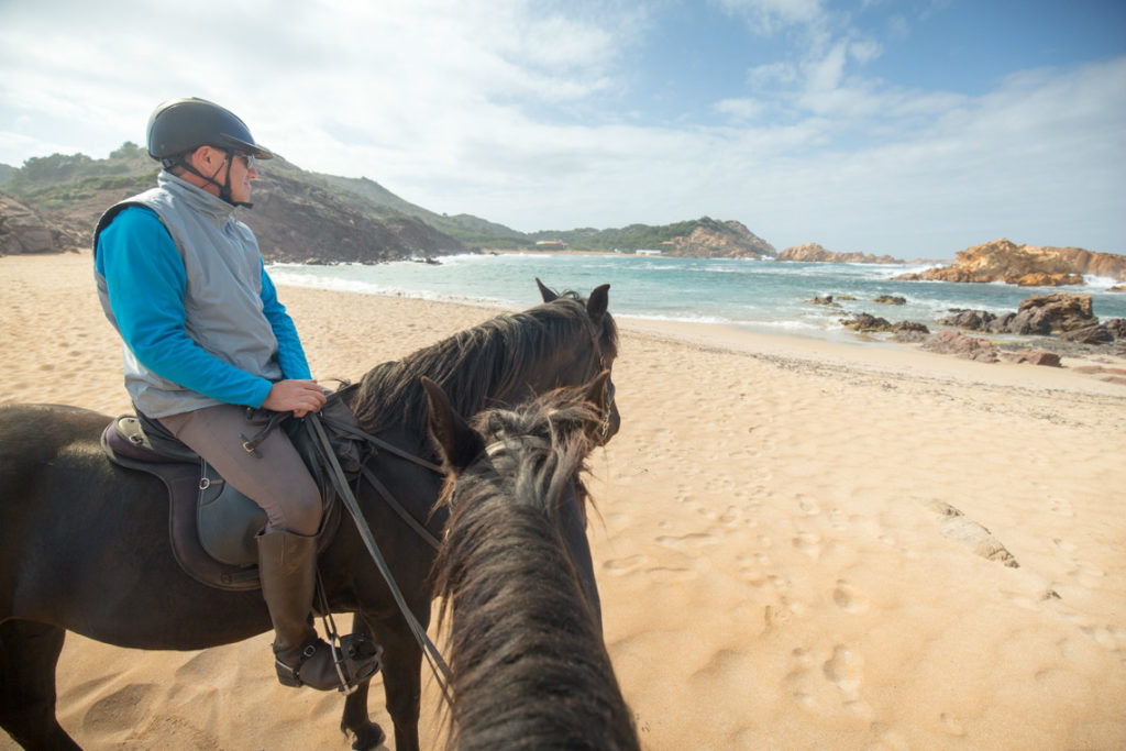 Horse riding on the beach, Menorca