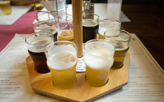Pivovarský dům beer tasting