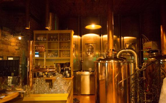 Pivovar U Dobřenských inside the micro brewery