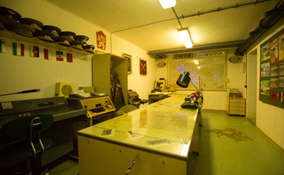 Map room Hotel Jalta Nuclear Bunker