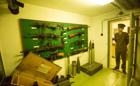 Armoury room, bunker Hotel Jalta, Prague